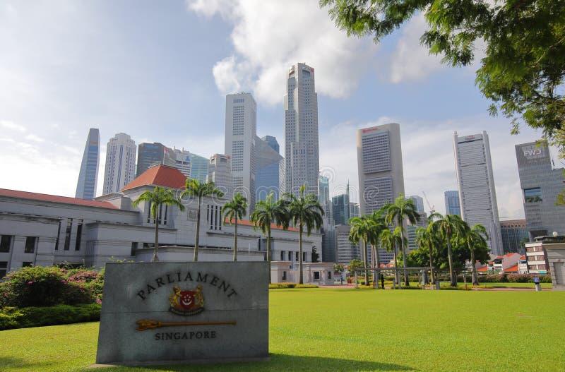 Il Parlamento di Singapore fotografia stock libera da diritti