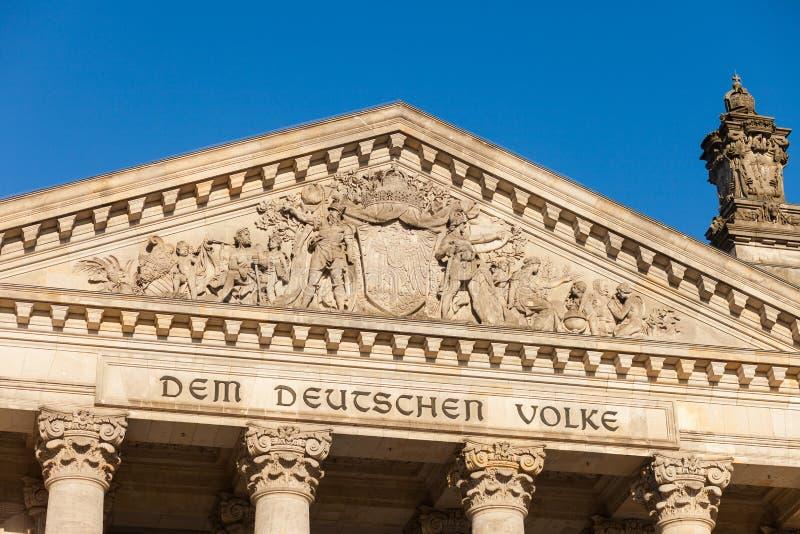 Il Parlamento federale tedesco (Reichstag) fotografia stock