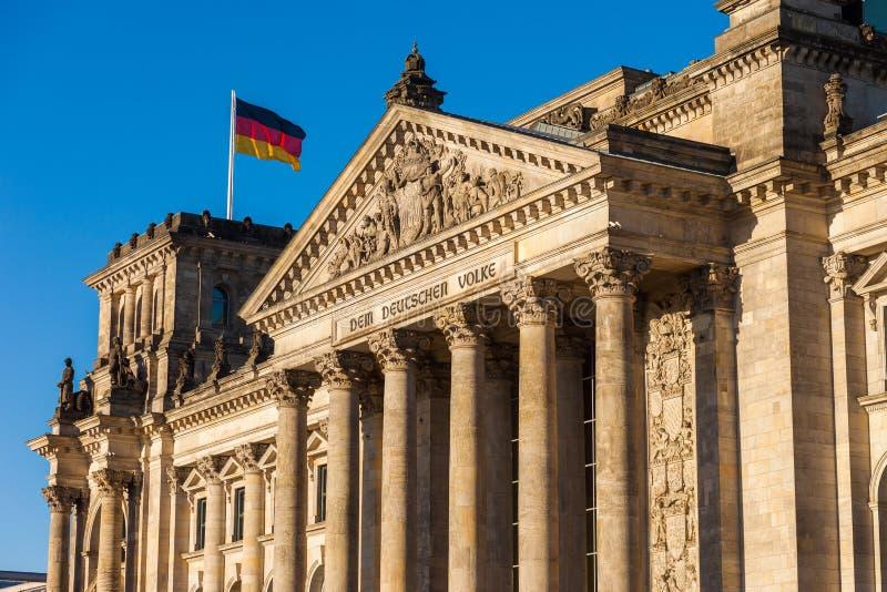 Il Parlamento federale tedesco (Reichstag) fotografia stock libera da diritti