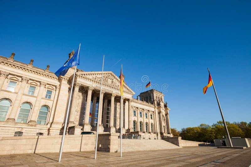 Il Parlamento federale tedesco (Reichstag) immagini stock