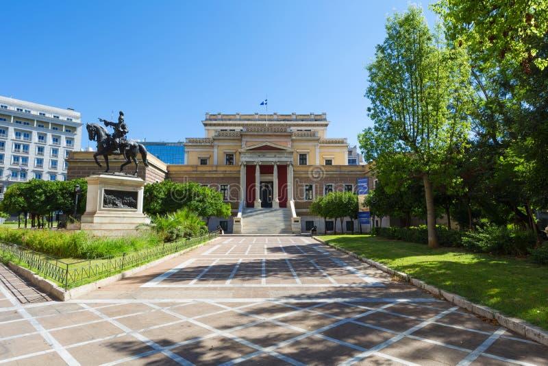 Il Parlamento greco anziano, Atene - Grecia fotografia stock