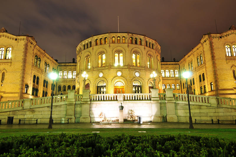 Il Parlamento a Oslo immagini stock libere da diritti