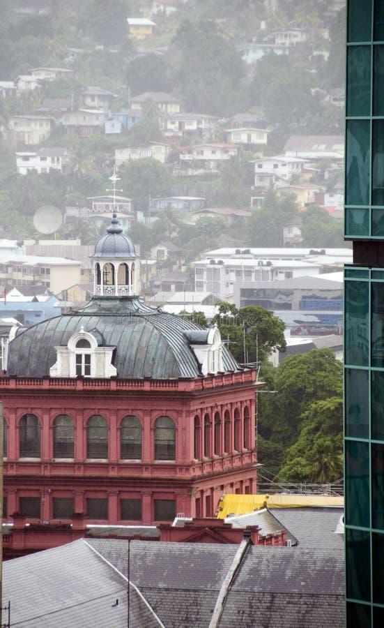 Il Parlamento rosso della casa port la spagna Trinidad immagine stock libera da diritti