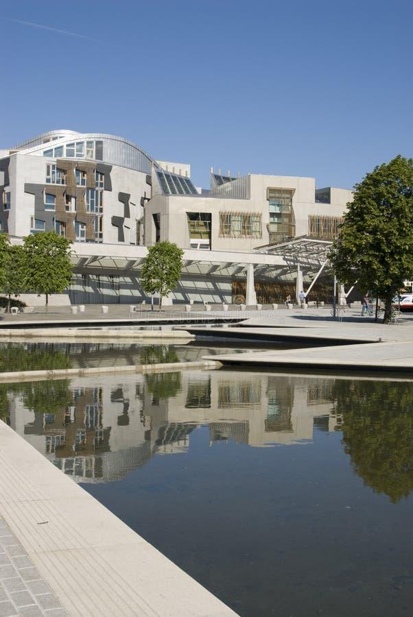 Il Parlamento scozzese. immagine stock