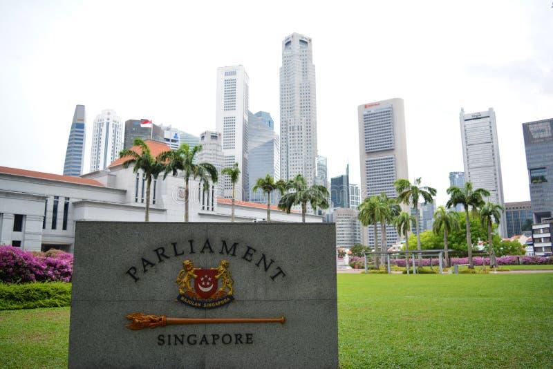 Il Parlamento Singapore fotografie stock libere da diritti