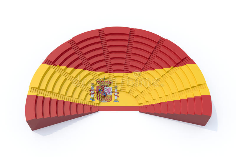 Il Parlamento spagnolo illustrazione vettoriale