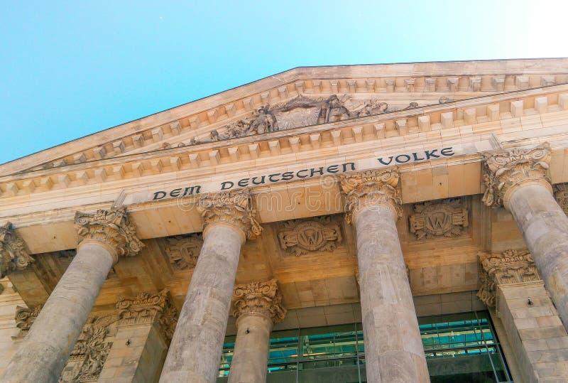 Il Parlamento tedesco a Berlino fotografia stock
