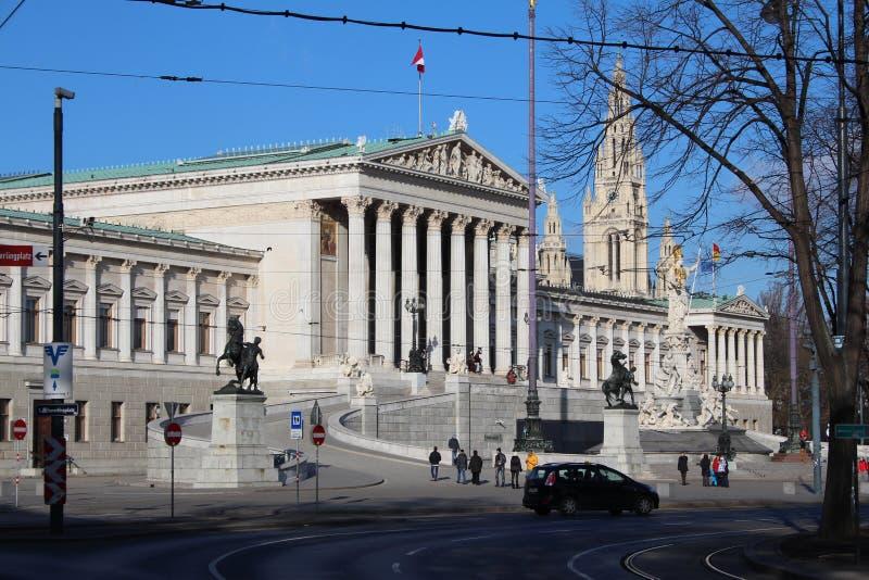 Il Parlamento, Vienna fotografia stock libera da diritti