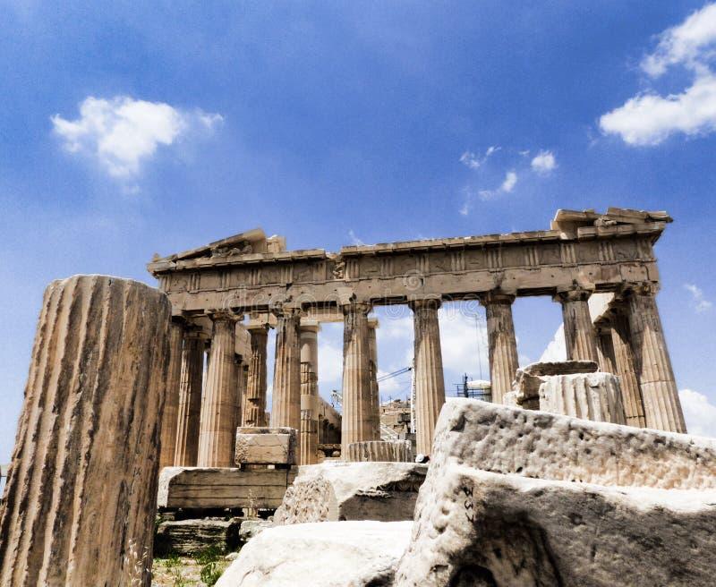 Il Parthenon a Atene fotografie stock