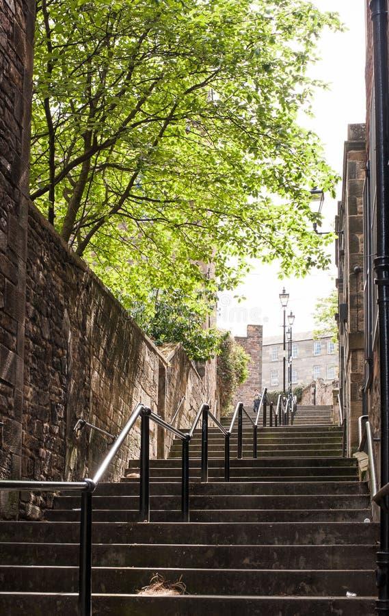 Il passaggio di Vennel a Edimburgo, Scozia fotografie stock libere da diritti