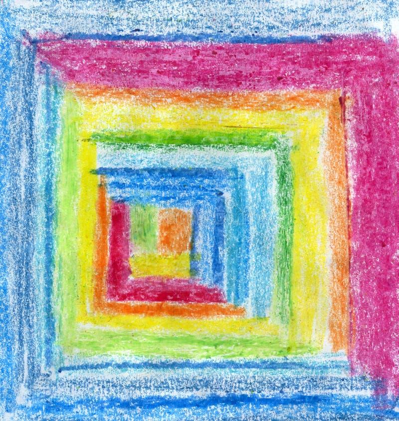 Il pastello astratto disegna a matita il fondo fotografie stock libere da diritti