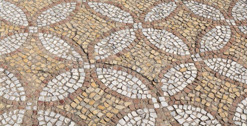 Il pavimento di mosaico ristabilito Mosaico di Bisanzio fotografie stock libere da diritti