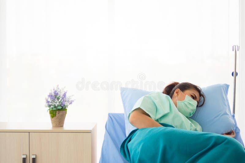 Il paziente è ammesso all'osservazione per una condizione medica in un ospedale fotografie stock