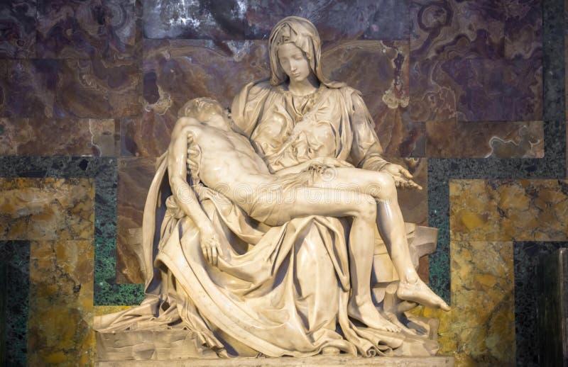 Il peccato: Capolavoro di Michelangelo in san Peter Basilica - Vaticano immagini stock
