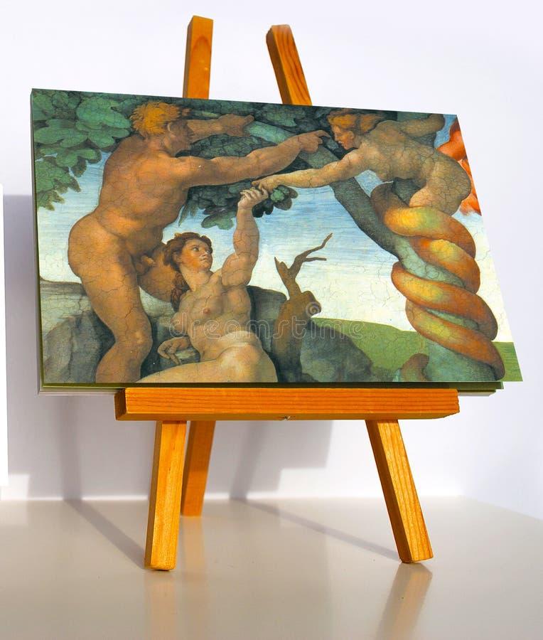 Il peccato originale Adamo ed Eva fotografie stock