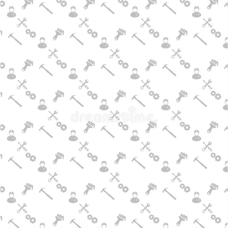 Il pennello felice dell'ingranaggio, dell'utente e di ricerca di festa del lavoro modella il backgr royalty illustrazione gratis