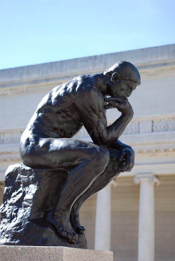 Il pensatore da Rodin fotografia stock