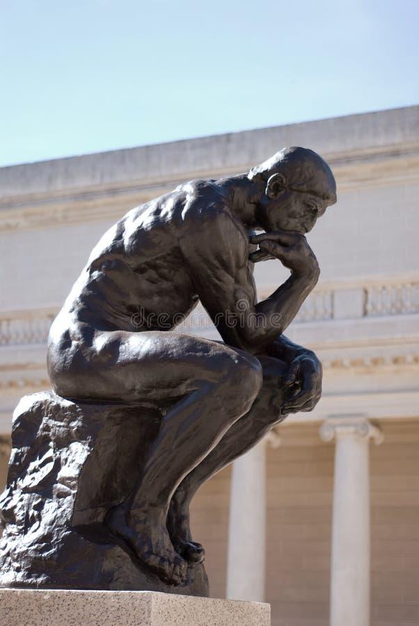 Il pensatore da Rodin fotografia stock libera da diritti
