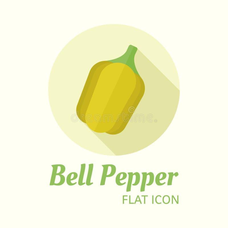 Il peperone dolce ha isolato l'icona rotonda di stile piano di vettore royalty illustrazione gratis