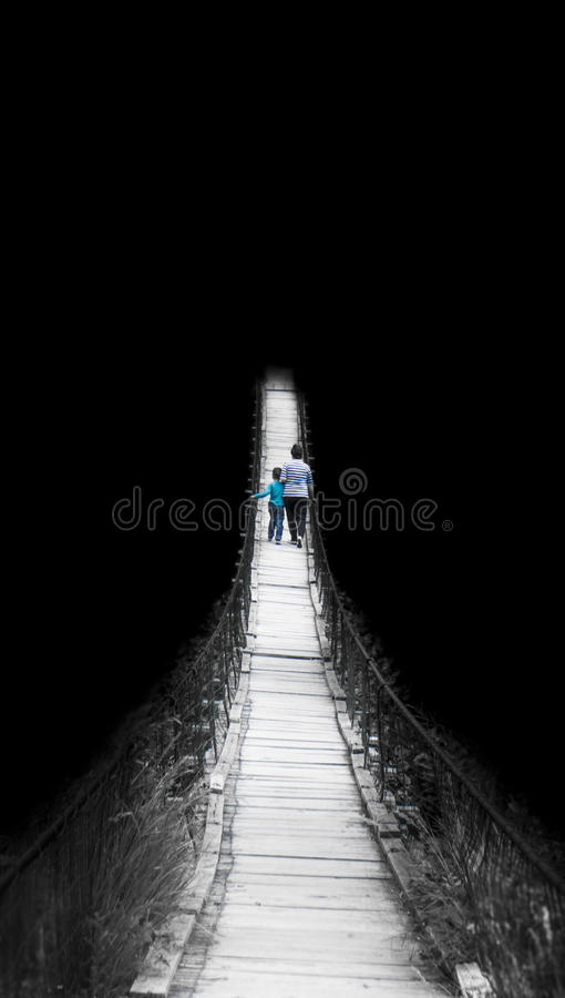 Il percorso allo sconosciuto fotografie stock