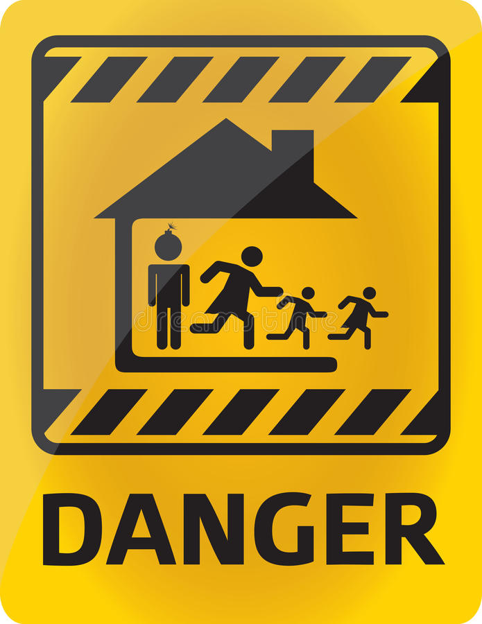 Il pericolo della famiglia immagine stock