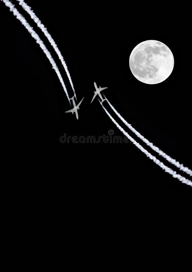 Il pericolo della luna piena immagine stock