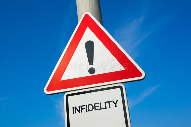Il pericolo di infedeltà immagine stock libera da diritti