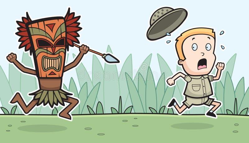 Il pericolo di safari royalty illustrazione gratis