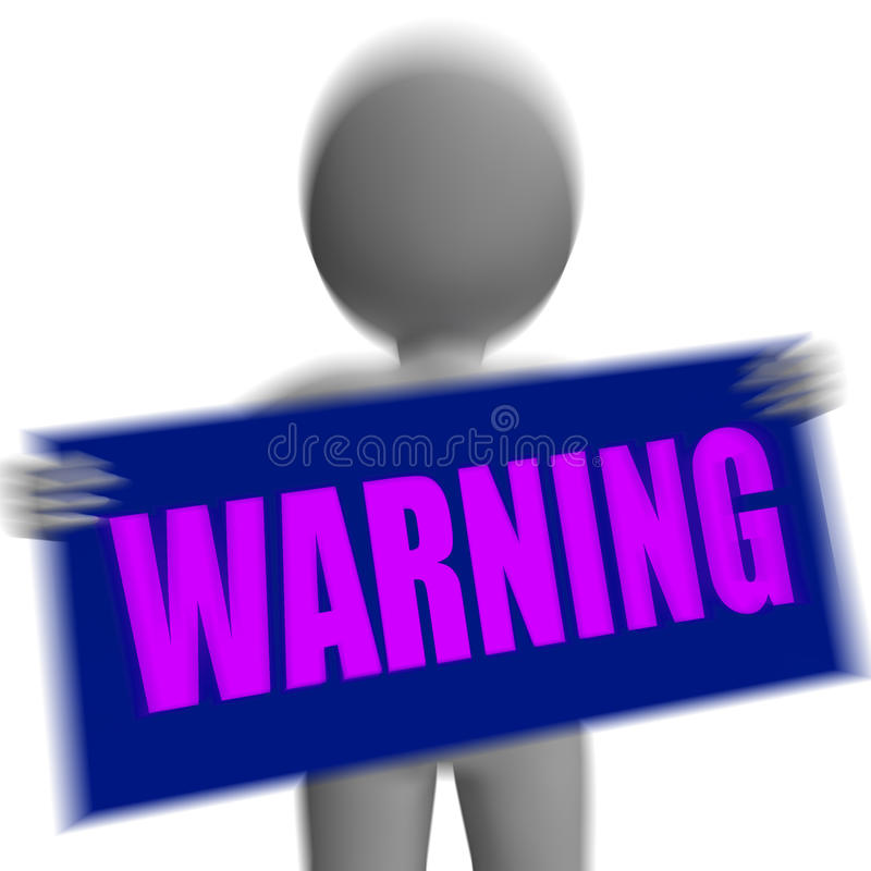 Il pericolo e rischio delle esposizioni di carattere del segnale di pericolo illustrazione di stock