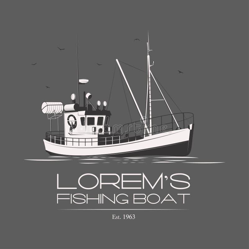 Il peschereccio di Lorem illustrazione di stock