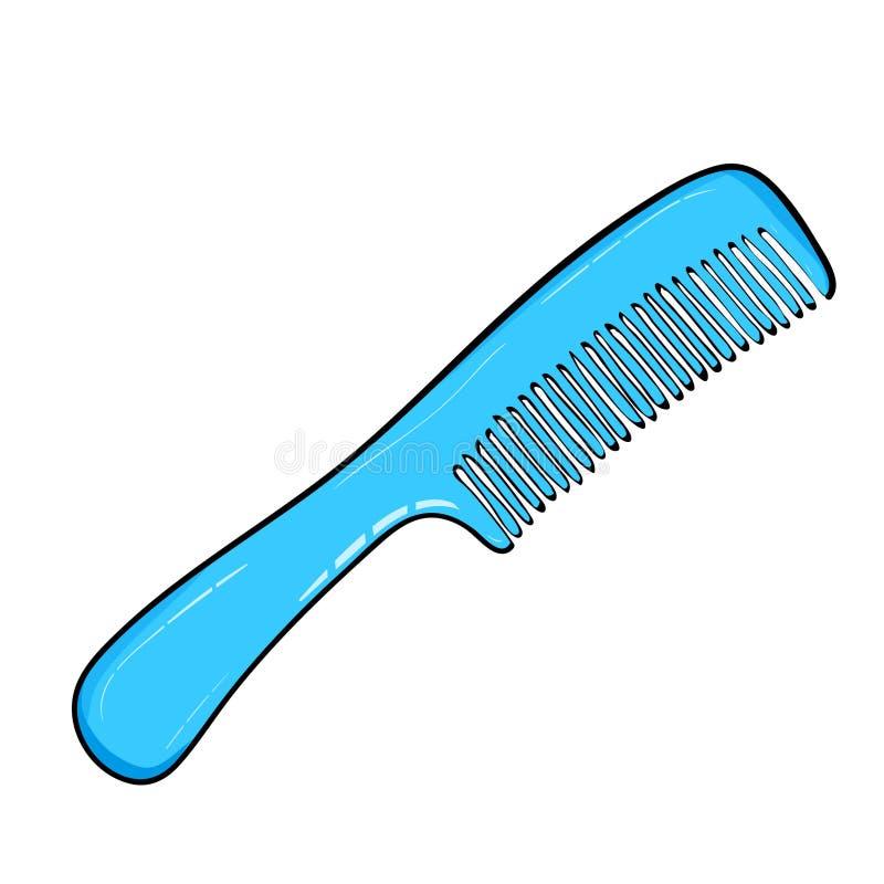 Il pettine è un dispositivo per la pettinatura dei capelli Singola icona del parrucchiere nell'illustrazione delle azione di simb illustrazione vettoriale