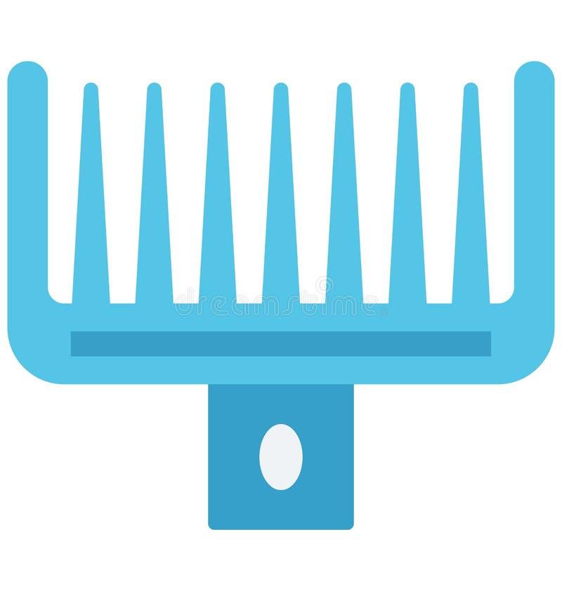 Il pettine di afro ha isolato lo speciale editabile dell'icona di vettore per i progetti della stazione termale e di bellezza, illustrazione di stock