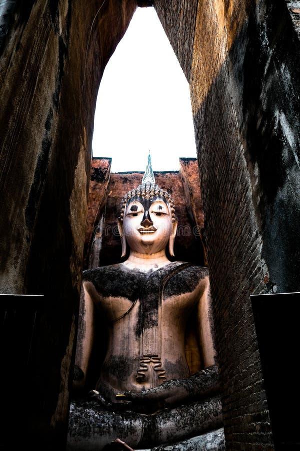 Il Phra Acana Buddha, Wat Si Chum, Sukhothai, Tailandia fotografia stock libera da diritti