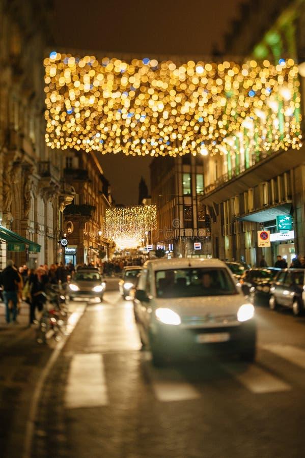 Il più vecchio mercato di Natale a Europa - Strasburgo, l'Alsazia, Fran fotografia stock