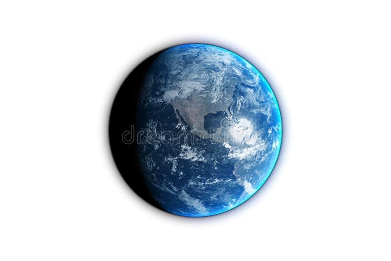 Il pianeta Terra isolato su fondo nero, 3d rende la s Elementi di questa immagine ammobiliati dalla NASA illustrazione vettoriale