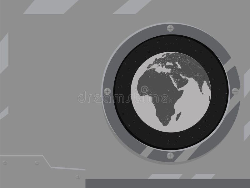 Il pianeta Terra splende la civilizzazione leggera l'Eurasia Africa dei continenti del mare nei precedenti del nero nero delle st royalty illustrazione gratis