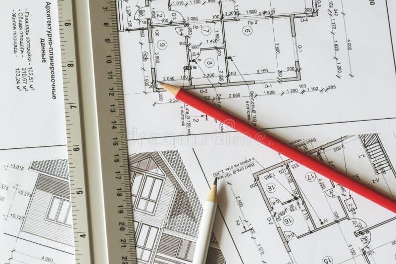 Il Piano Architettonico Della Casa è Stampato Su Un Foglio ...
