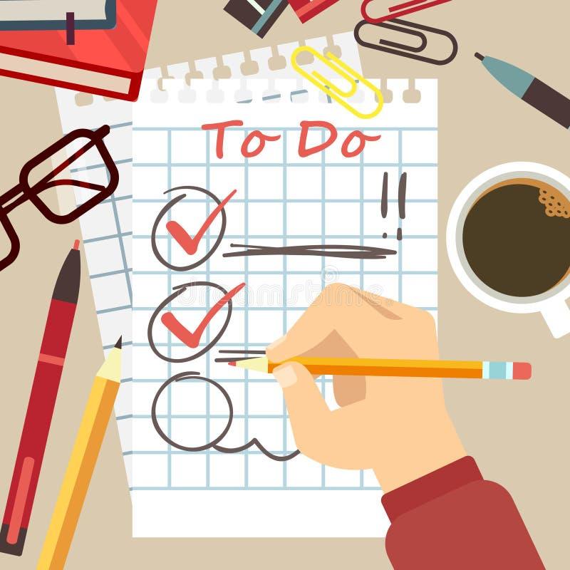 Il piano organizza il concetto - per fare la lista royalty illustrazione gratis