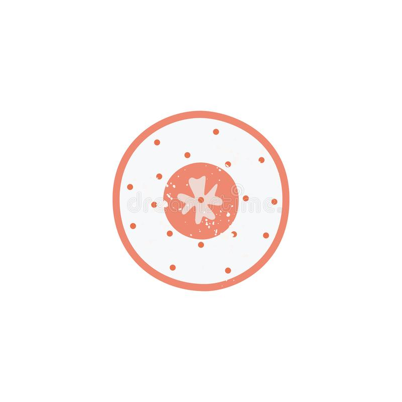Il piatto ceramico o placca un'icona dell'illustrazione piana di vettore delle terrecotte della cucina isolata illustrazione di stock