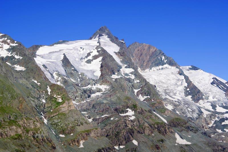 Il picco della montagna di Grossglockner fotografie stock libere da diritti