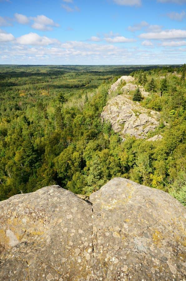 Il picco di Ely vicino a Duluth fotografia stock libera da diritti