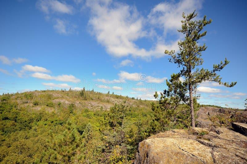 Il picco di Ely vicino a Duluth fotografia stock