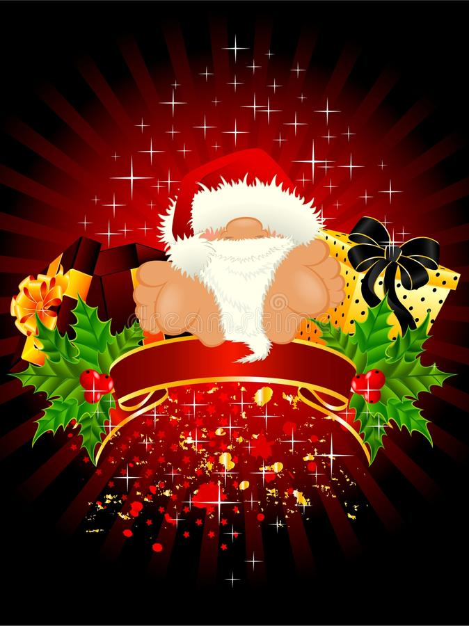 Il piccolo Babbo Natale piacevole illustrazione vettoriale
