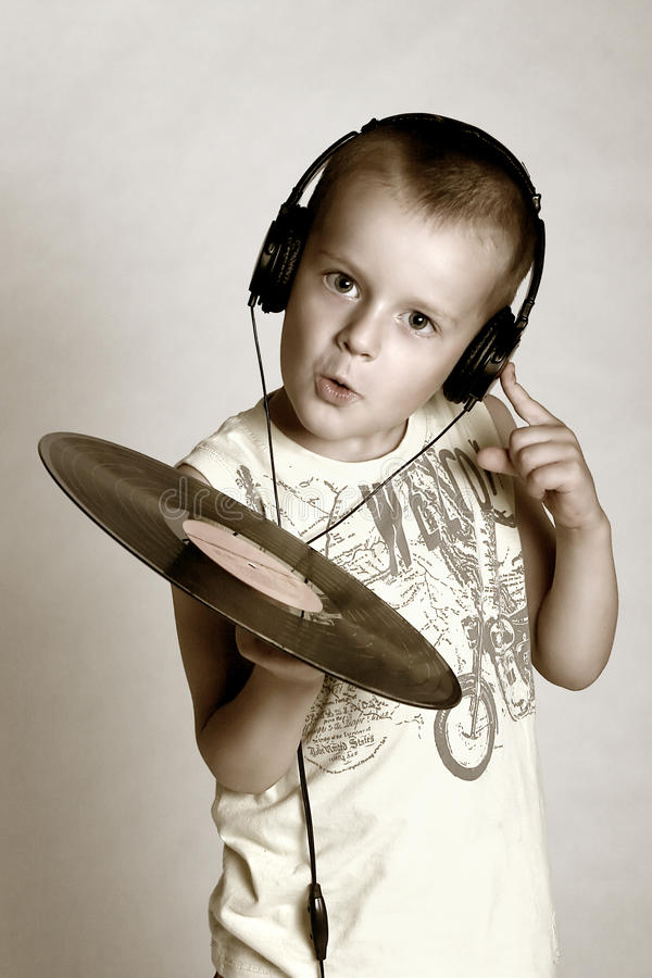 Il piccolo DJ immagine stock libera da diritti