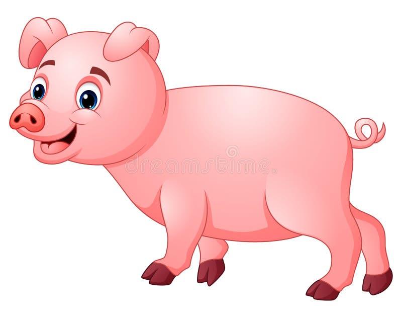 Il piccolo maiale è felice royalty illustrazione gratis