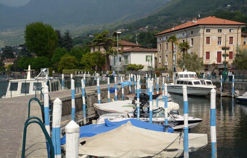 Il piccolo porto di Sulzano fotografia stock libera da diritti