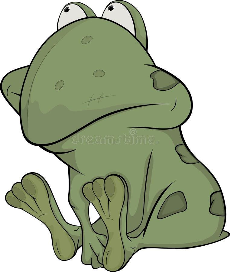 Il piccolo rospo verde illustrazione vettoriale