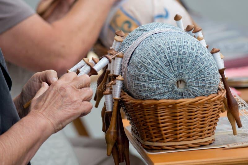 Il pizzo Handcraft immagine stock