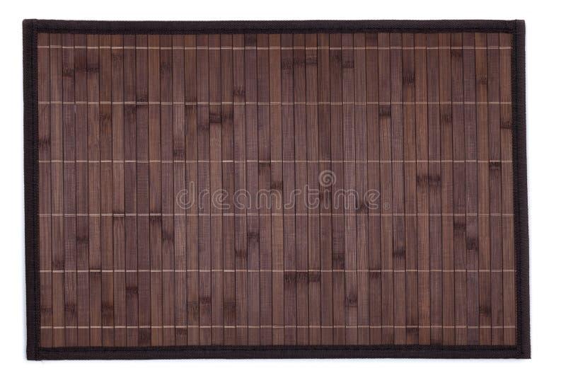 Il placemat di bambù ha isolato immagine stock libera da diritti