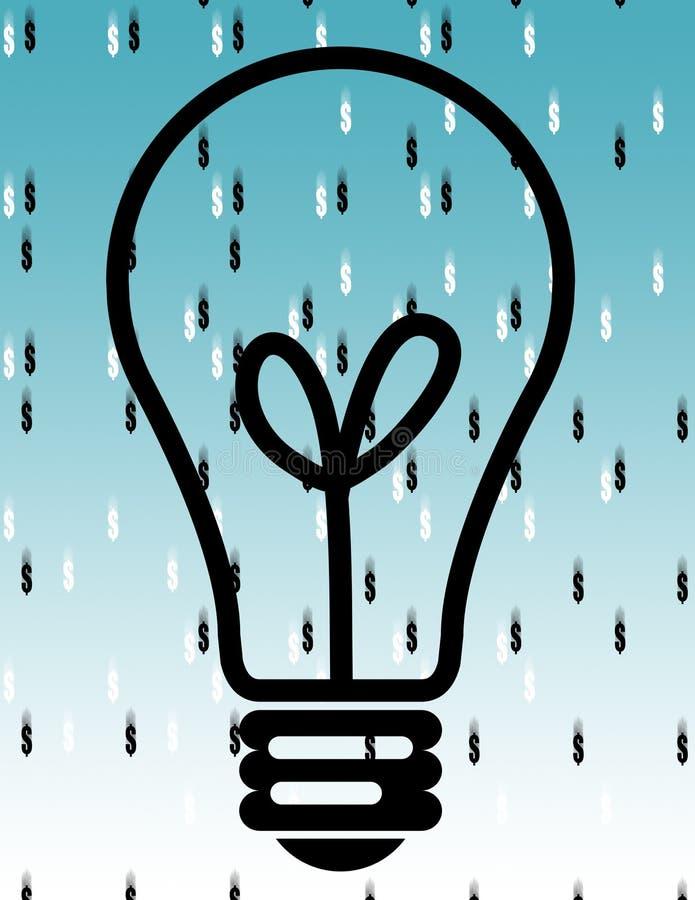 Download Il pleut l'argent comptant illustration stock. Illustration du instillez - 728843